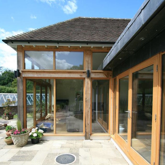 Timber frame and glass