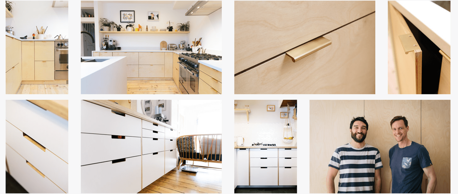 plywood kitchen fronts